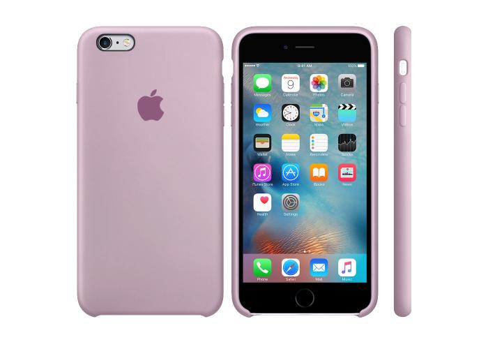 Силиконовый чехол Apple Silicon Case Lavander для iPhone 6 Plus/6s Plus (копия)