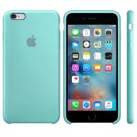 Силиконовый чехол Apple Silicon Case Sea Blue для iPhone 6 Plus/6s Plus (копия)