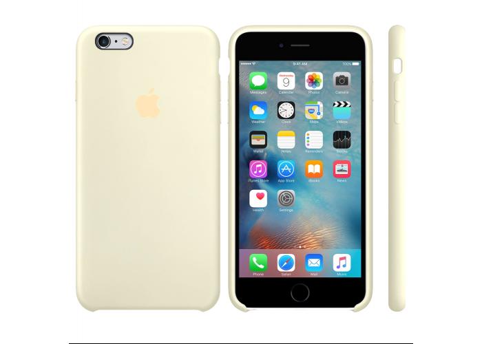 Силиконовый чехол Apple Silicon Case Antique White для iPhone 6 Plus/6s Plus (копия)