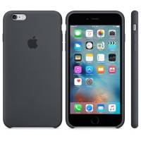Силиконовый чехол Apple Silicon Case Charcoal Gray для iPhone 6 Plus/6s Plus (копия)