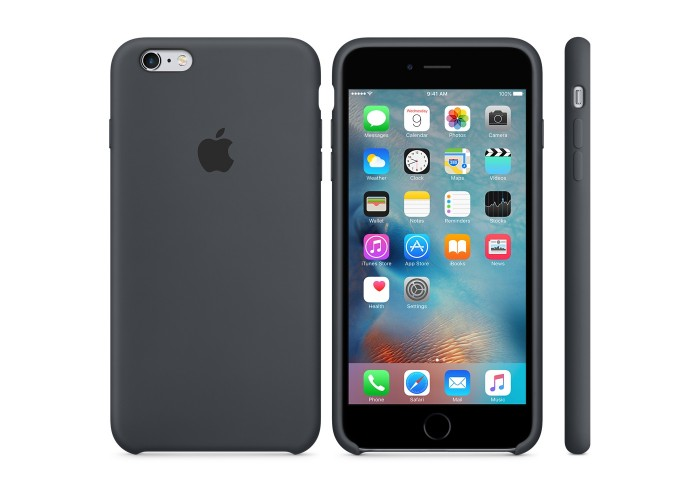 Силиконовый чехол Apple Silicon Case Charcoal Gray для iPhone 6 Plus/6s Plus (копия)