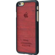 Чехол для iPhone 6/6s Soft Touch под дерево красный