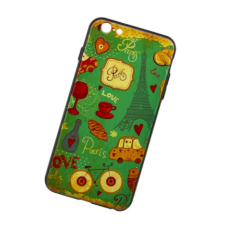 Чехол для iPhone 6/6s 3D Sparcle Premium Print (Soft Touch) Love