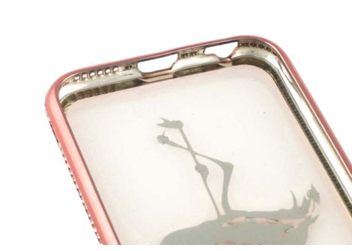 Чехол для iPhone 6/6s Kingxbar Diamond Фламинго розовый