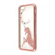 Чехол для iPhone 6/6s Kingxbar Diamond Единорог розовый