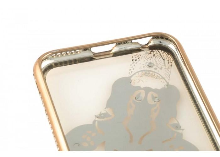 Чехол для iPhone 6/6s Kingxbar Diamond Жираф золотистый