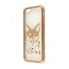 Чехол для iPhone 6/6s Kingxbar Diamond Лиса золотистый