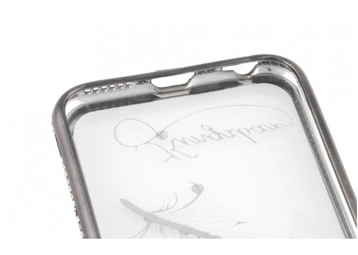 Чехол для iPhone 6/6s Kingxbar Diamond Перо серый