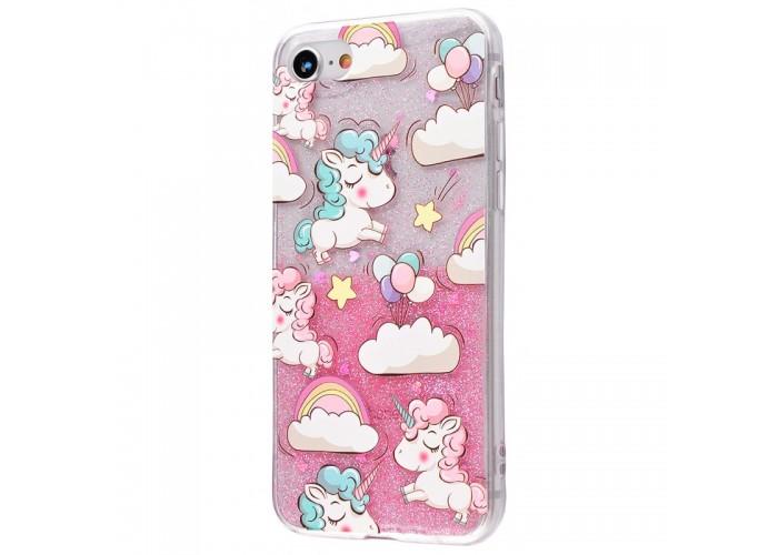 Чехол для iPhone 6/6s Unicorn Glitter Shine