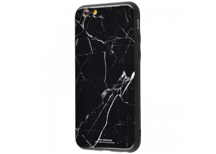 Чехол для iPhone 6/6s White Knight Pictures Glass мрамор черный
