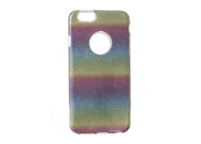 Чехол для iPhone 6/6s Shining Glitter Case с блестками радуга