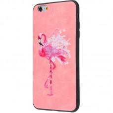 Чехол для iPhone 6/6s Embroider Animals Soft фламинго