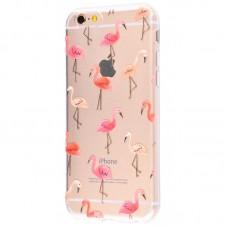 Чехол для iPhone 6/6s розовый фламинго