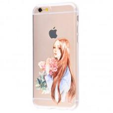 Чехол для iPhone 6/6s girl with flowers