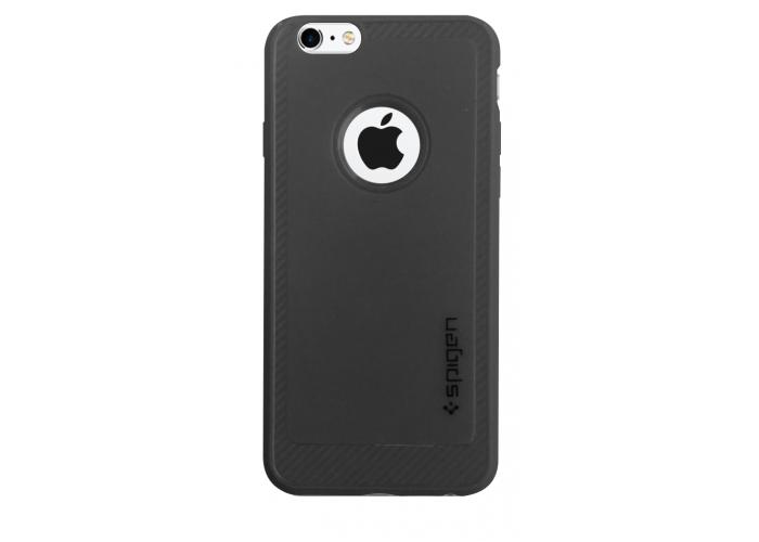 Силиконовый чехол для iPhone 6/6s Spigen Black (черный)