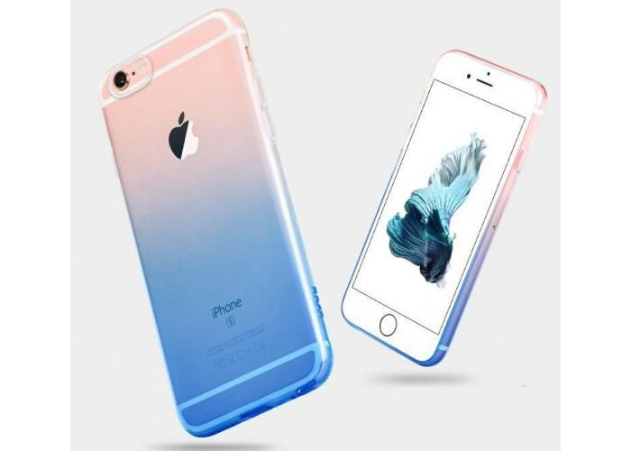 Силиконовый чехол для iPhone 6/6s Gradient Blue (синий)