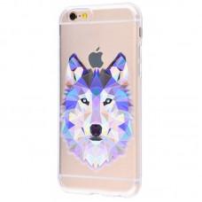 Чехол для iPhone 6/6s blue wolf