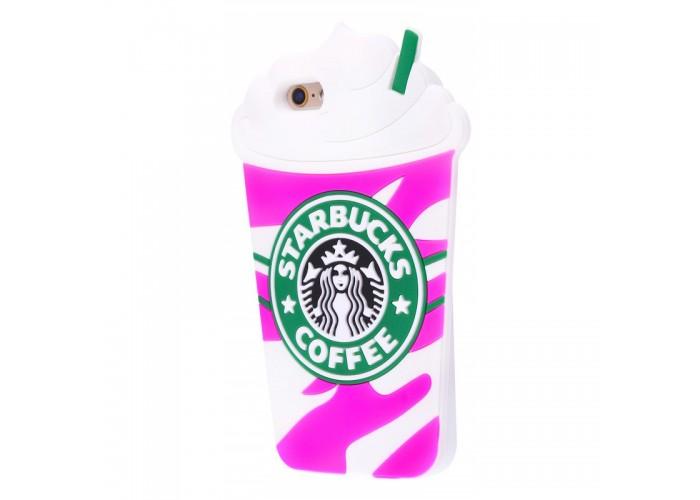 Чехол для iPhone 6/6s Starbuks розовый