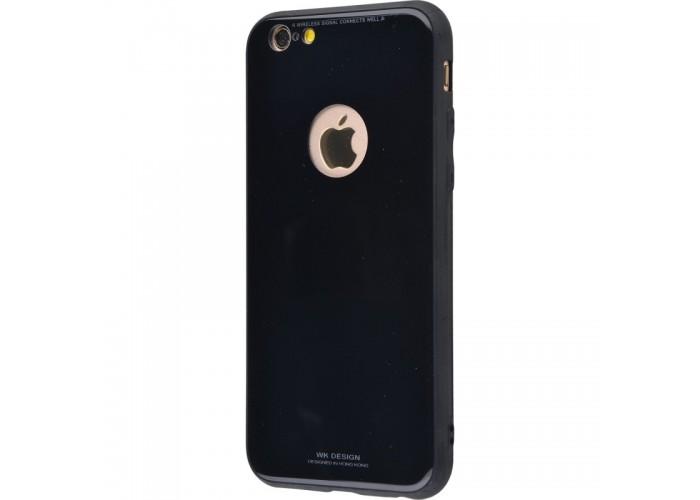 Чехол для iPhone 6/6s White Knight Pictures Glass black (черный)