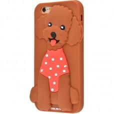 Чехол для iPhone 6/6s CoolWay Dog коричневый