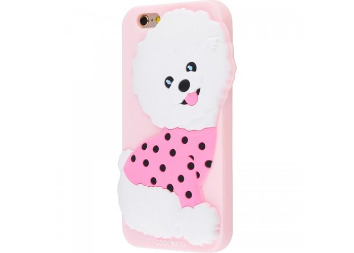 Чехол для iPhone 6/6s CoolWay Dog розовый