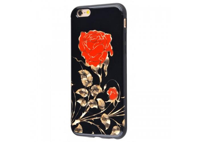 Чехол для iPhone 6/6s Glossy Rose красный