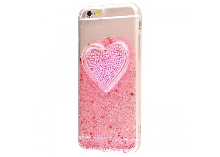 Чехол для iPhone 6/6s Diamond Hearts розовый