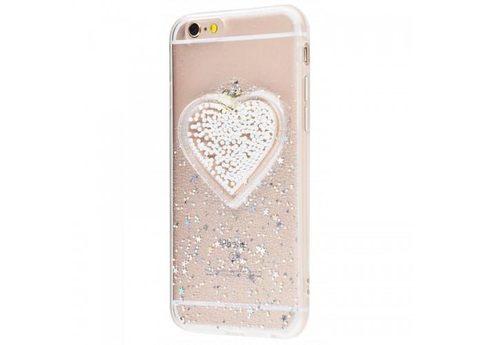 Чехол для iPhone 6/6s Diamond Hearts серебряный