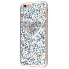 Чехол для iPhone 6/6s Diamond Hearts серый