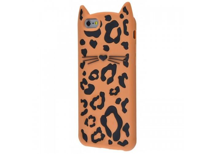 Чехол для iPhone 6/6s леопардовый кот