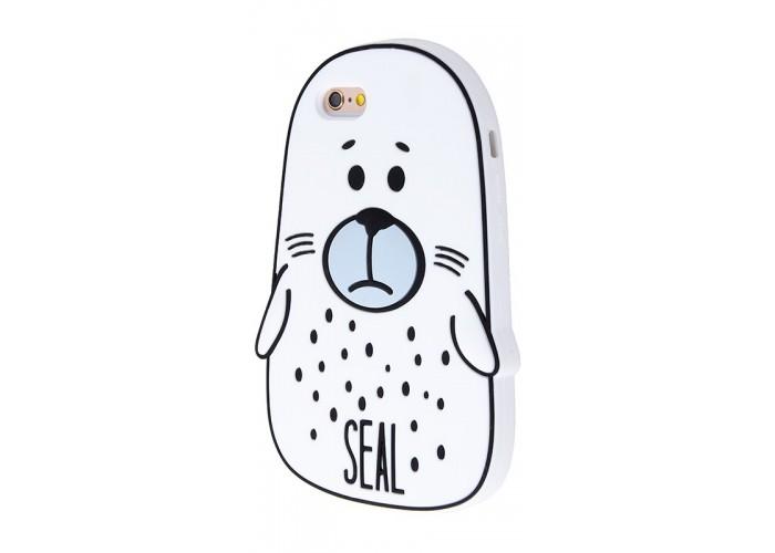 Чехол для iPhone 6/6s Fat Animals белый тюлень
