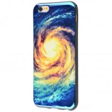 Чехол для iPhone 6/6s перламутр галактика
