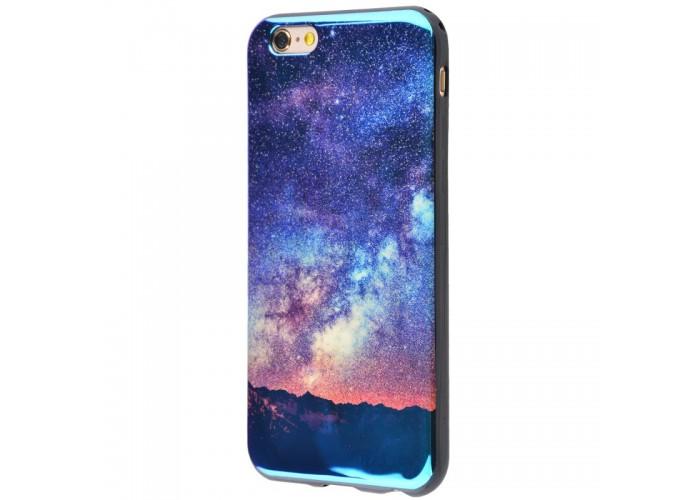 Чехол для iPhone 6/6s перламутр звезды