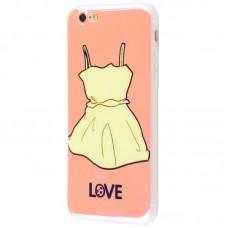 Чехол для iPhone 6/6s перламутр love