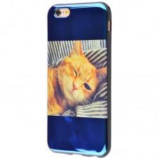 Чехол для iPhone 6/6s перламутр кот