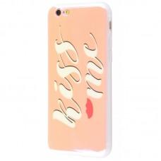 Чехол для iPhone 6/6s перламутр kiss me