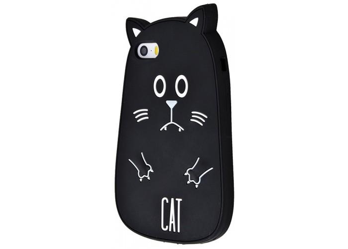 Чехол для iPhone 6/6s Fat Animals черный кот