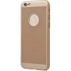 Чехол для iPhone 6/6s Perfo Soft Touch золото