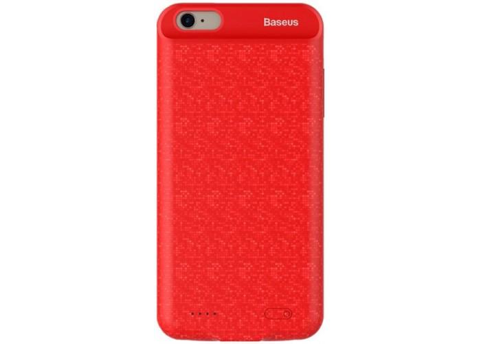 Чехол для iPhone 7/8 Baseus Plaid Backpack Power Bank Case 5000 mAh красный