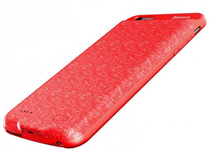 Чехол для iPhone 7/8 Baseus Plaid Backpack Power Bank Case 2500 mAh красный