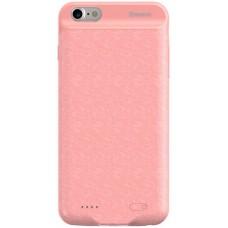 Чехол для iPhone 7/8 Baseus Plaid Backpack Power Bank Case 2500 mAh розовый