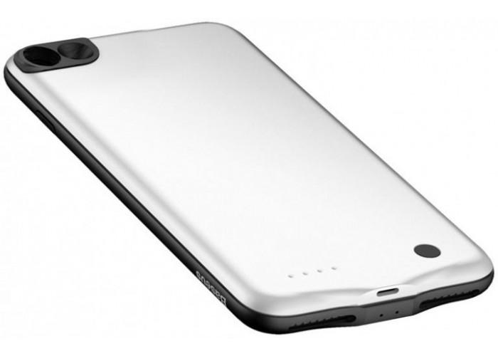 Чехол для iPhone 7/8 Baseus Geshion Backpack Power Bank Case 2500 mAh белый