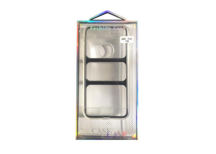 Силиконовый чехол для iPhone 7/8 Fashion Case Full 360 Transparent  (прозрачный)