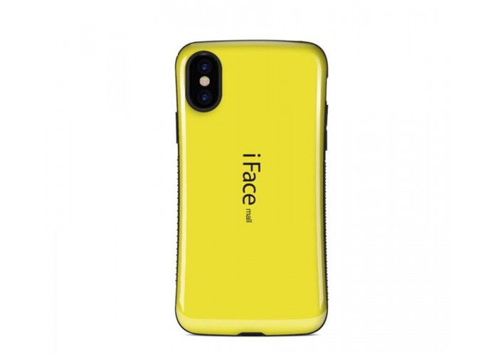 Чехол для iPhone X iFace желтый