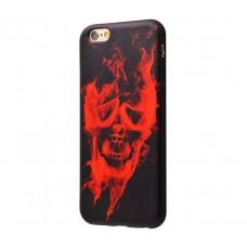 Чехол для iPhone 6/6s Termo Case горящий череп