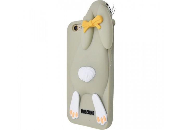 Чехол для iPhone 6/6s Moschino заяц серый