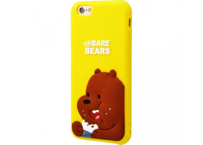 Чехол для iPhone 6/6s Bare Bears коричневый медведь