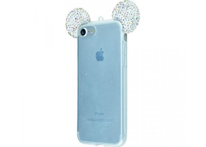 Чехол для iPhone 6/6s TPU с серебряными ушками