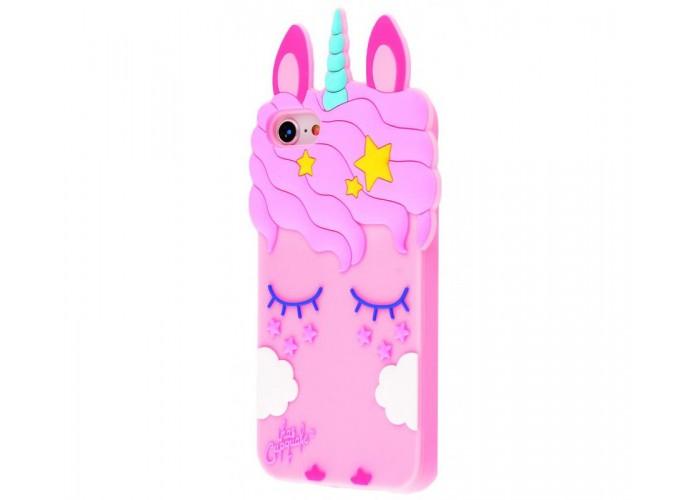 Чехол для iPhone 6/6s розовый единорог