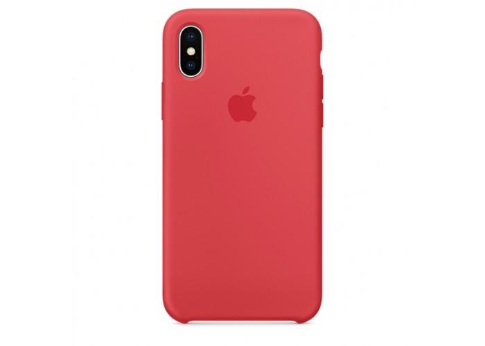 Силиконовый чехол Apple Silicone Case Red Raspberry для iPhone X /10 Xs/10s (копия)